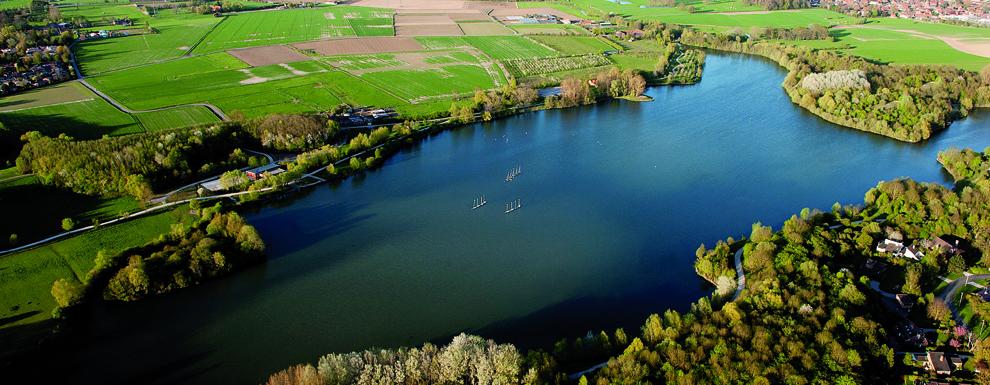 Vue aérienne du lac du héron