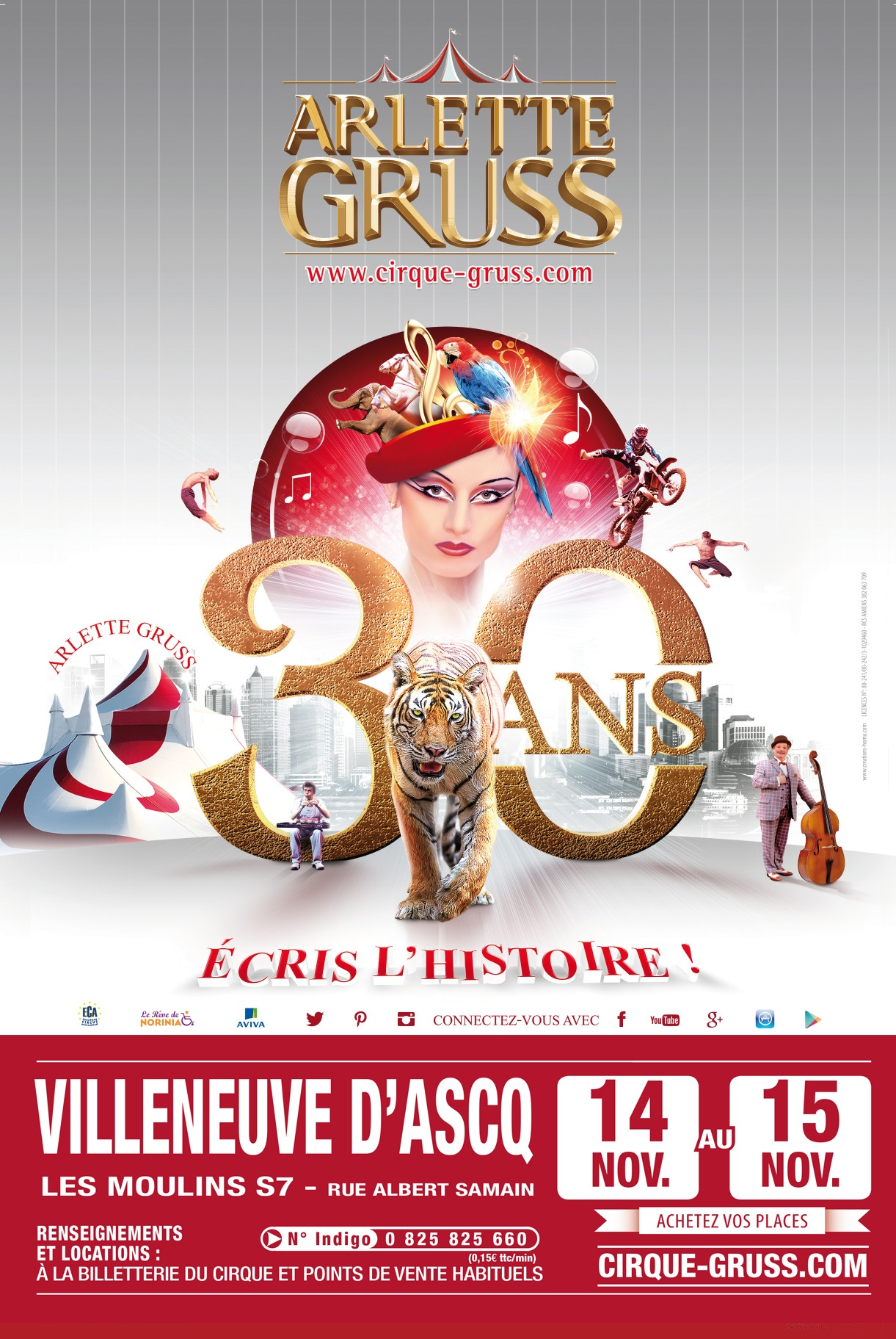 Cirque arlette gruss villeneuve d 39 ascq tourisme - Office du tourisme villeneuve d ascq ...