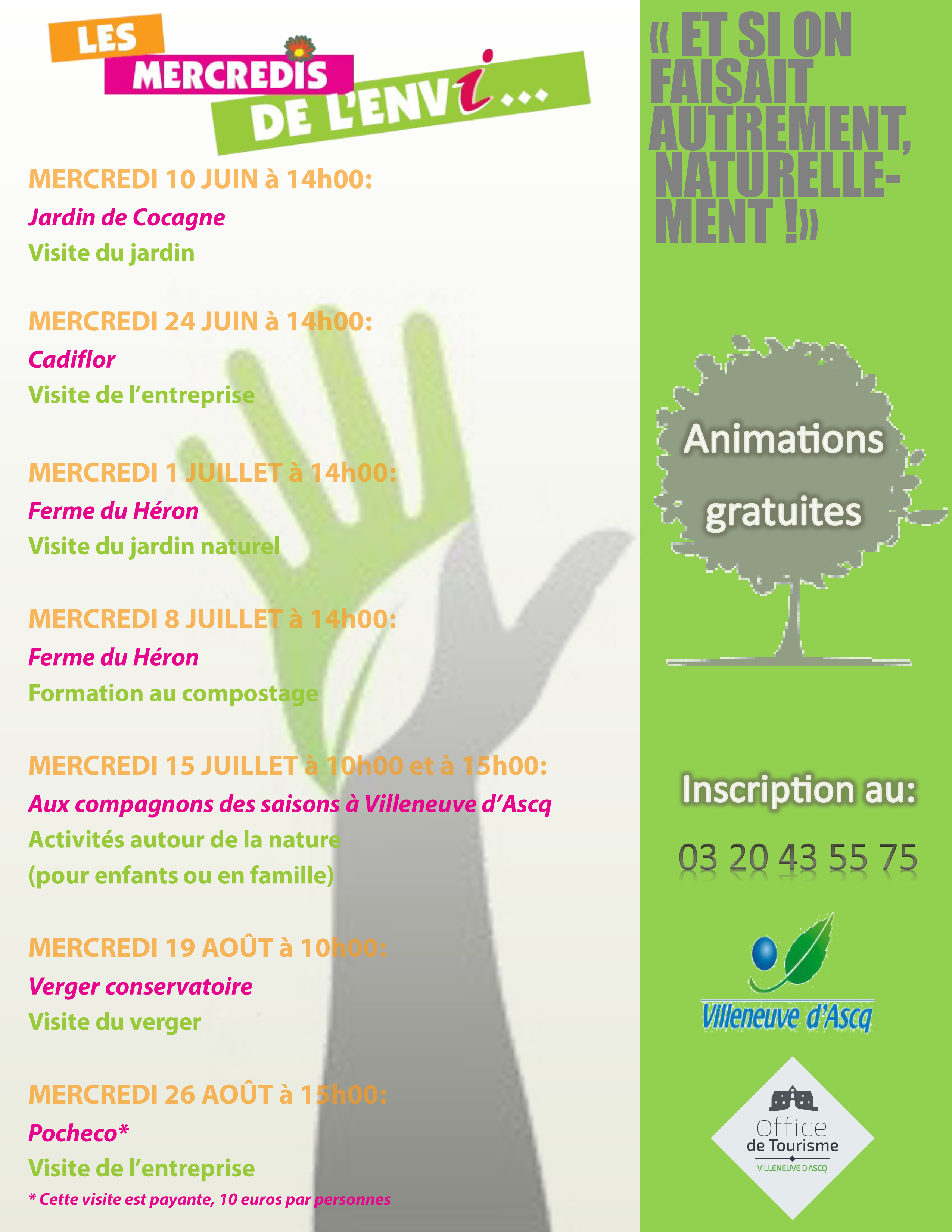 Les mercredis de l 39 envi villeneuve d 39 ascq tourisme - Office de tourisme villeneuve d ascq ...