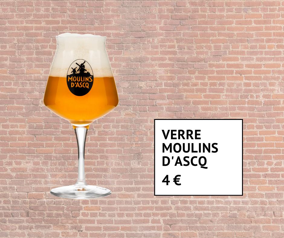 Verre à bière Moulins d'Ascq 4 euros