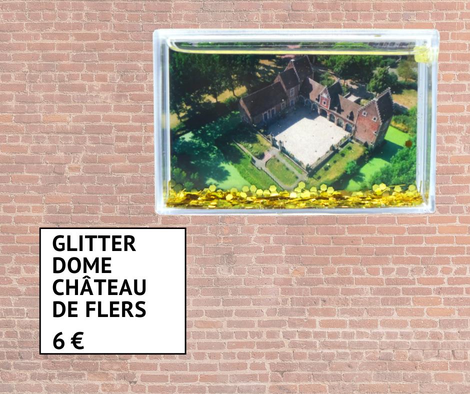 Glitter dome avec vue sur le Château de Flers 6 euros