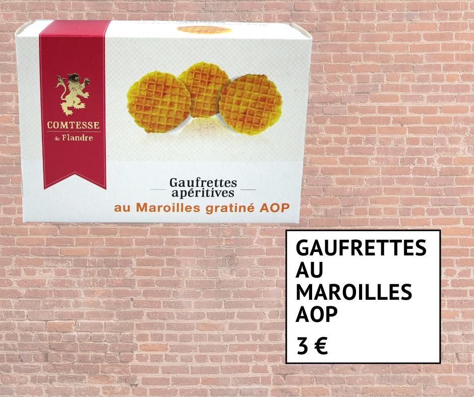 Gaufrettes apéritives au Maroilles AOP 3 euros