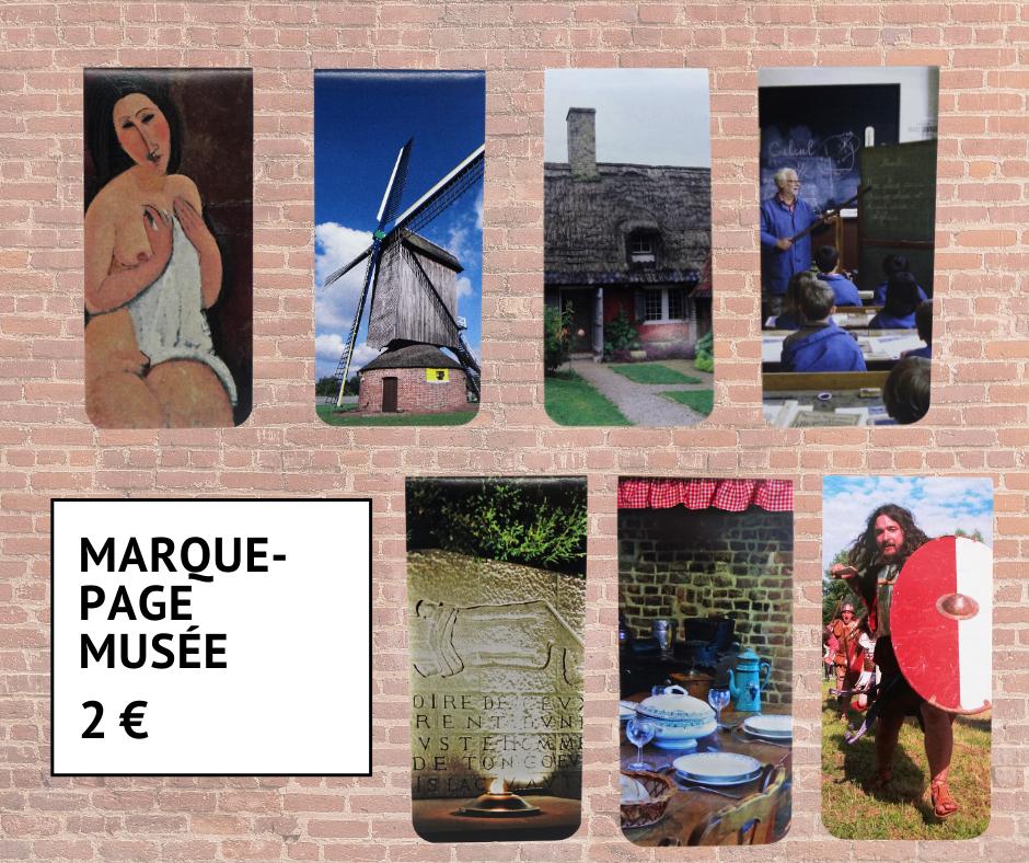 Les marque-pages magnétiques des musées de Villeneuve d'Ascq 2 euros