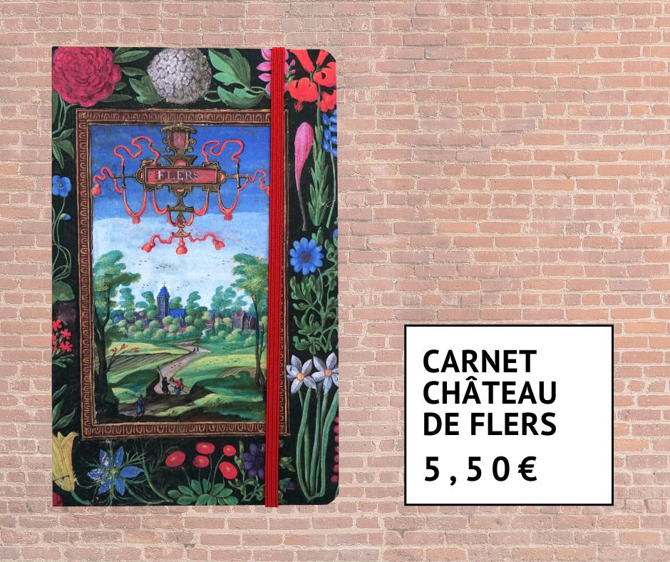 Carnet avec peinture du Château de Flers 5 euros 50