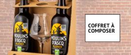 Coffret personnalisable de bières Moulins d'Ascq